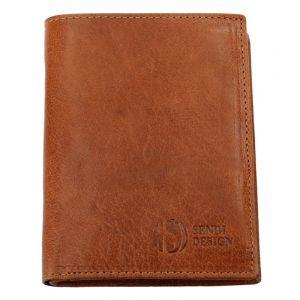 Pánská kožená peněženka SendiDesign SNW6945 – světle hnědá 1689