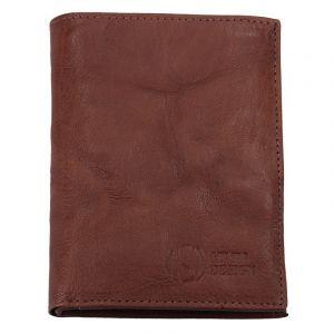 Pánská kožená peněženka SendiDesign SNW6945 – tmavě hnědá 1688