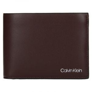 Pánská kožená peněženka Calvin Klein Ferian – tmavě hnědá 18543