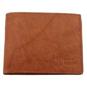 Pánská kožená peněženka SendiDesign SNW6856 – světle hnědá 1572