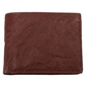Pánská kožená peněženka SendiDesign SNW6856 – tmavě hnědá 1571
