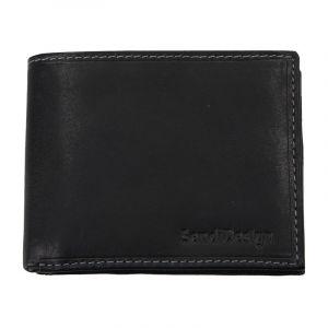 Pánská kožená peněženka SendiDesign 6001 (P) VT – černá 1568