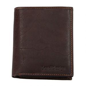 Pánská kožená peněženka SendiDesign 5758 (P) VT – hnědá 1567