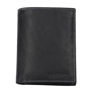 Pánská kožená peněženka SendiDesign 5741 (P) VT – černá 1564