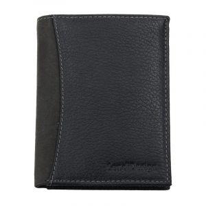 Pánská kožená peněženka SendiDesign 5502 FH – černá 1555