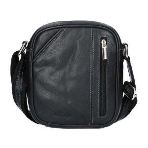 Pánská kožená taška přes rameno SendiDesign Artur – černá 1548