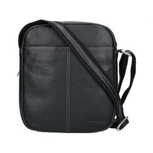 Pánská kožená taška přes rameno SendiDesign Boby – černá 1547