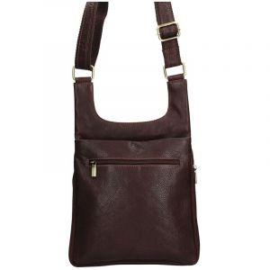 Pánská kožená taška přes rameno SendiDesign CT705 – hnědá 1540