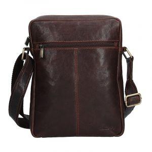 Pánská kožená taška přes rameno SendiDesign CT701 – hnědá 1537