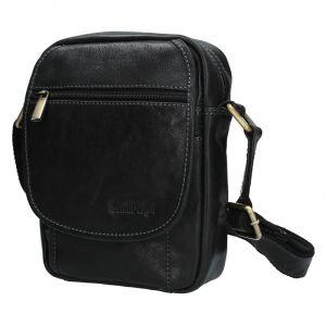 Pánská kožená taška přes rameno SendiDesign CT703 – černá 1530