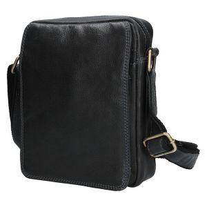 Pánská kožená taška přes rameno SendiDesign CT005 – černá 1463
