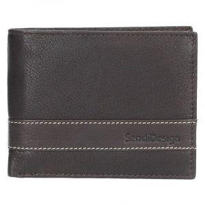Pánská kožená peněženka SendiDesign 44 – hnědá 1461