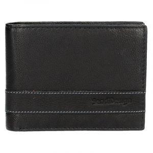 Panská kožená peněženka SendiDesign 48 – černá 1459