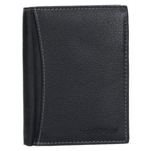 Panská kožená peněženka SendiDesign N4 – černá 1457