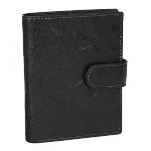Pánská kožená peněženka SendiDesign 1047L – černá 1453