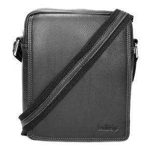 Pánská kožená taška přes rameno SendiDesign IG005 – černá 1450