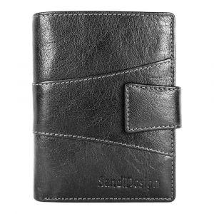 Pánská kožená peněženka SendiDesign 1041L – černá 1442