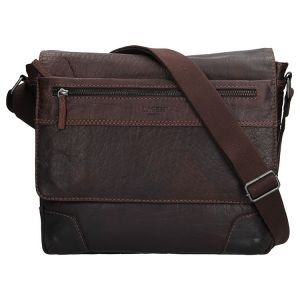 Pánská kožená taška přes rameno Lagen Marvel – tmavě hnědá 1435