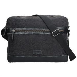 Pánská taška přes rameno Lagen Marlon – černá 1318