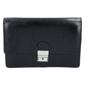 Pánské kožené etue Lagen E2016 – černá 1315