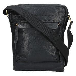 Pánská kožená taška přes rameno Lagen 20672 – černá 1313