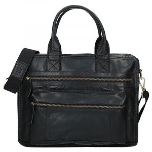 Pánská kožená taška přes rameno Lagen Benedikt – černá 1207