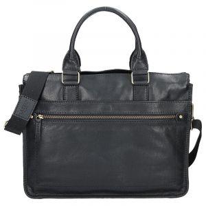Pánská kožená taška přes rameno Lagen Bertram – černá 1204