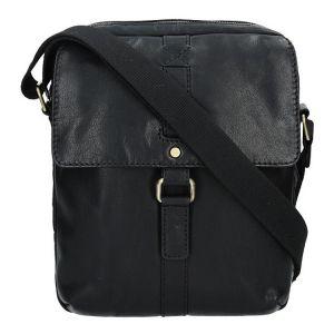 Pánská kožená taška přes rameno Lagen Robert – černá 1201