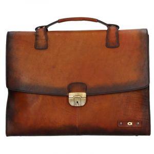 Luxusní pánská kožená taška Daag ALIVE 32 – hnědá 1177