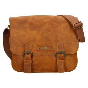 Pánská kožená taška Daag Elianto – světle hnědá 18476