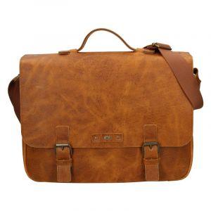 Pánská kožená taška Daag Woody – světle hnědá 18475