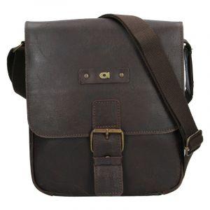 Pánská kožená taška Daag Benn – tmavě hnědá 18464