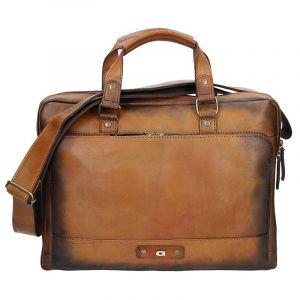 Luxusní pánská kožená taška Daag ALIVE 23 – hnědá 173