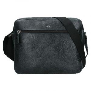 Pánská kožená taška Daag Malcolm – černá 18446