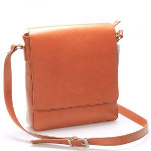 Pánská luxusní kožená taška přes rameno světle hnědá – ItalY Crosby hnědá 80826