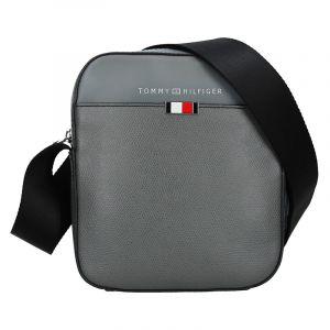 Pánská kožená taška přes rameno Tommy Hilfiger Pallo – šedá 17907