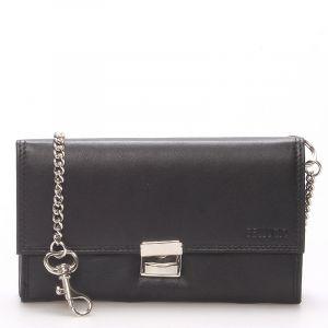 Luxusní velká kožená kasírtaška černá – Bellugio Basileia černá 124860