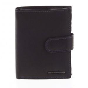 Pánská kožená peněženka černo modrá – Bellugio Palaemon černá 174486