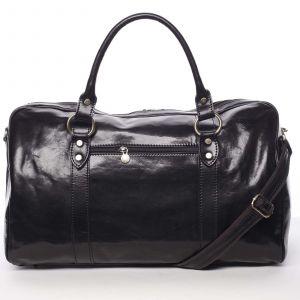 Velká cestovní kožená taška černá – ItalY Equado černá 138910