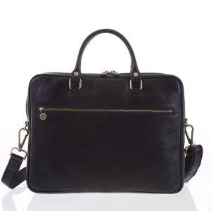 Kožená business taška černá – ItalY Claudio černá 148441