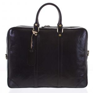 Kožená business taška černá – ItalY Paolo černá 171009