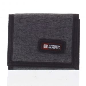 Peněženka látková tmavě šedá – Enrico Benetti 4600 šedá 164619