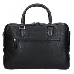 Pánská kožená taška přes rameno Bugatti Aristel – černá 17822