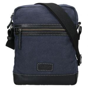 Pánská taška přes rameno Lagen Bill – modro-černá 17737