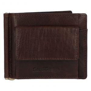 Pánská kožená dolarovka hnědá – SendiDesign Rtex Dark hnědá 231830