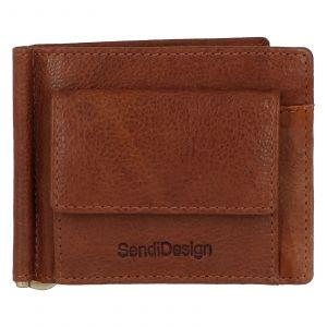 Pánská kožená dolarovka světle hnědá – SendiDesign Rtex Dark hnědá 231832