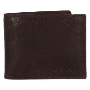 Pánská kožená peněženka hnědá – SendiDesign Boster hnědá 231837