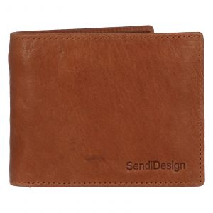 Pánská kožená peněženka světle hnědá – SendiDesign Boster hnědá 231839