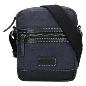 Pánská taška přes rameno Lagen Albert – modro-černá 17736