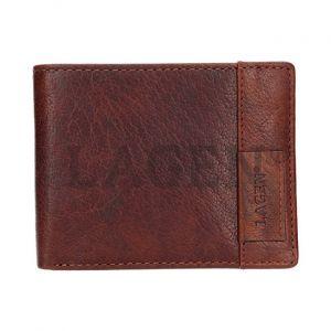 Lagen Pánská kožená peněženka 9113 Tan mla0588
